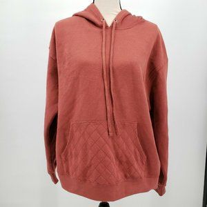 Women's Long Sleeve Hooded Pullover Sweater - XL